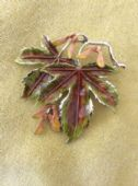 Sycamore Pin by Exquisite - 1960's Designer-Signed Leaf Brooch - English Trees(SOLD)